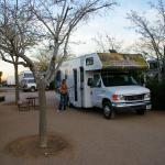 Onze eerste kampground in Kingman (KOA camping)